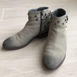 Halogen Booties in Grey with Stud Details Sz 6.5